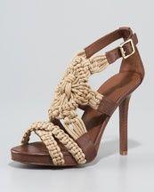 tori burch, macrame, macram sandal, fleur macram, tory burch, sandals, toryburch, burch fleur, shoe