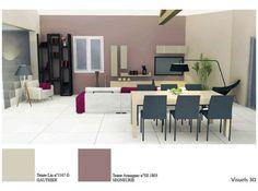Plan 2D et 3D pour l\'aménagement d\'une pièce à vivre et d\'une ...