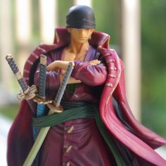 Red clothing theatre version of zero 2 years later knife doll model Japanese cartoon anime one piece Swordsman ZERO tall 18cm $25.99