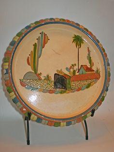 Fabulous Vintage Mexican Pottery Platter