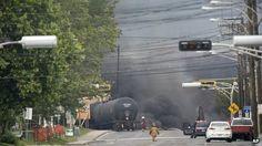 Petrochemical train explodes in Quebec's Lac-Megantic