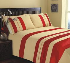 This embroidered striped, vibrant duvet really will add a pop of colour to your bedroom! The Seattle Duvet set is this seasons must have, featuring an array of colours and textures it has a modern yet classic feel to the design. From £19.99 via www.lancashiretextiles.co.uk #home #striped #modern #bedding #sleep #interiors