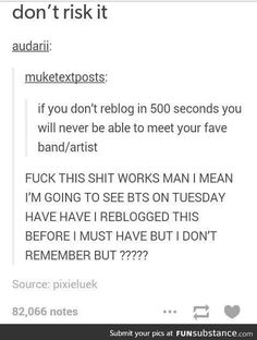 Well I don't want to risk it so