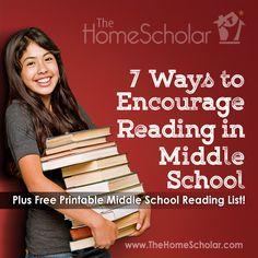 7 Ways to Encourage Reading in Middle School #Homeschool @TheHomeScholar