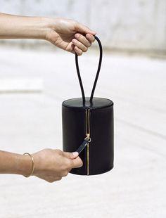 Cylinder Wristlet a small cylinder bag 16 × 12 cm