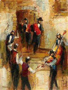 Judaica Art by Abstract Artist Michael Rozenvain Oil Painting Gallery, Art Gallery, Shabbat Shalom Images, Arte Judaica, Jewish Art, Jewish Music, Jewish History, Jazz Art, Biblical Art