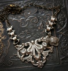 The Chains that Bind Mix Metal Necklace by MyVintageVanity on Etsy, $35.00