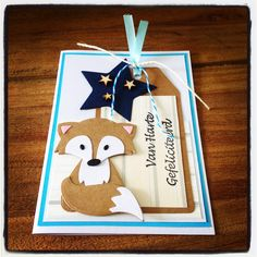 critter card with Fox - marianne die - vos Xmas Cards To Make, Marianne Design, Marianne Vos, Craft Punches, Animal Cards, Punch Art, Baby Cards, Greeting Cards Handmade, Scrapbook Cards