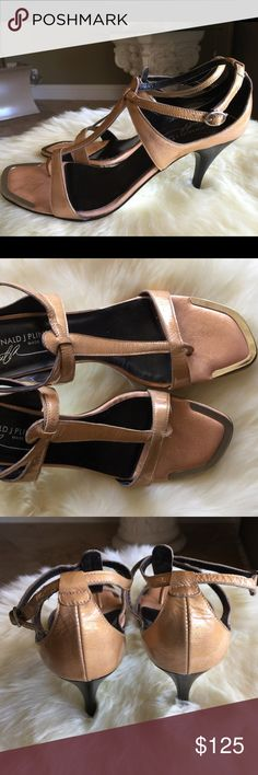 """Sexy Donald Pliner patent heels Very sexy peach metallic patent leather 3 1/2"""" heels ! Nice neutral to wear with everything!  NWOB Donald J. Pliner Shoes Heels"""