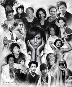 Great African Americans: Women | 24 x 20 | Wishum Gregory | Art Print, Prints | Black Art | Black History | African American Art