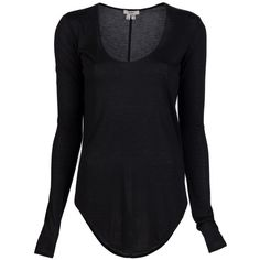 HELMUT Long sleeve kinetic t-shirt ($78) found on Polyvore