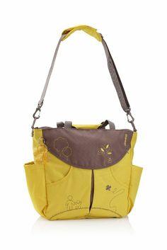 Amazon.com: okiedog Sumo Messenger & Backpack Diaper Bag Yellow: Baby