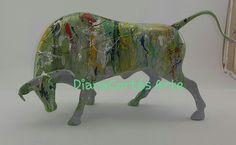 Moose Art, Lion Sculpture, Statue, Glow Effect, Modern Art, Resin, Sculpture