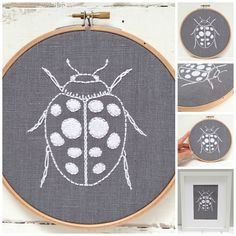 DIY embroidery hoop art kit! Stitch your way to bliss with this ladybug embroidery kit. A fresh design combined with quality materials and easy-to-follow instructions make this a delightful experience