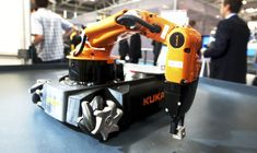 © 2013 KUKA The KUKA youBot is a small mobile robot that has been designed as an open source platform for scientific research and training. The mobile manipulator has an omnidirectional base and robotic mechanics with five degrees of freedom. Just 2 years after its introduction to the market, it is already the referencplatform for research and training in the field of mobile manipulation. The robot consists of a mobile platform and a robotic arm. Both are driven by maxon motors.