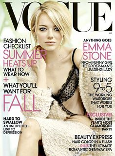 Emma Stone lookin HAWT on her cover. she looks skinnier though...