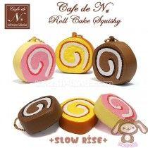 *PRE-ORDER* Café de N *SLOW RISE* Squishy Mascot ~ Roll Cake Squishy