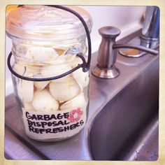 Homemade Garbage Disposal Refreshers.. made 14 Tb tablets..smells AMAZING...takes about 5 minutes to make