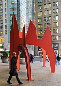 Sculpture in Downtown Manhattan