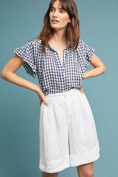 CP Shades Linen High-Waisted Shorts #ad #AnthroFave #AnthroRegistry Anthropologie #Anthropologie #musthave #styleinspiration #newarrivals #ootd