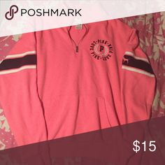 Victoria's Secret PINK quarter zip sweatshirt VS PINK quarter zip sweatshirt size small, good condition, hardly worn. PINK Victoria's Secret Tops Sweatshirts & Hoodies