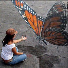3D street art (great, amazing, beautiful, cool, interesting, creative)
