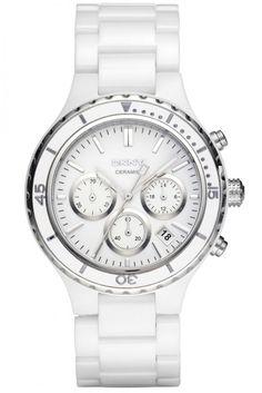 02ac6fbaf DKNY NY8187 Womens Silver Ceramic Chronograph Watch   BRAND NEW with Tags  Diamond Bangle, Rolex