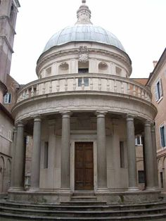 The Tempietto of San Pietro in Montorio The location of the church of San Pietro in Montorio was selected as it supposedly is the site of St. Peter's crucifixion.