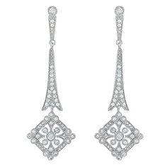 Silver-Tone Wedding Bridal Art Deco Royal Gatsby Inspired Pave Zircon CZ Drop Dangle Pierced Earrings for Bride Bridesmaid  $22.99 http://www.amazon.com/dp/B00NUYO18K/ref=cm_sw_r_pi_dp_ZWIjvb0V0FYR8