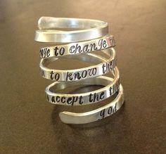 Serenity Prayer Ring | Original by donnaOdesigns | Artist will customize, add dates, names, etc