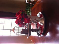 Winter and Valentine table decoration