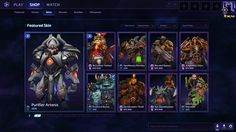 Heroes of the Storm UI Design created by me and the talented Heroes UI Team.