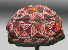VINTAGE CLOTHING Chodor Turkmen HAT Late 19th by tcEclecticImages