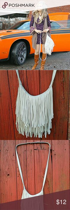 Fun Fringe Adorable Fringe Handbag in good used condition Vintage  Bags Crossbody Bags