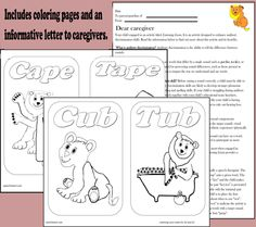 Auditory discrimination and articulation activities based on minimal pairs /k/ and /t/ http://www.teacherspayteachers.com/Product/Listening-Lions-Listen-for-k-and-t-315196