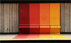 colorful bus stop