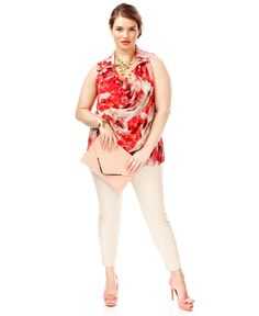 Plus Size Spring 2014 Trend Report Secret Garden Printed Blouse Look - Plus Sizes - Macy's