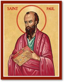 High quality hand-painted Orthodox icon of Paul the Apostle. BlessedMart offers Religious icons in old Byzantine, Greek, Russian and Catholic style. San Paul, Origin Of Christianity, Monastery Icons, Book Of Galatians, John Chrysostom, Paul The Apostle, Saint Thomas Aquinas, Paint Icon, Byzantine Icons