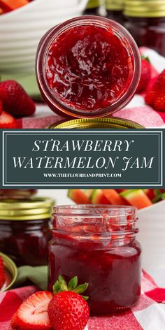 Melon Recipes, Jam Recipes, Canning Recipes, Canning 101, Dessert Recipes, Homemade Jelly, Homemade Pickles, Watermelon Jam, Fried Chicken Recipes