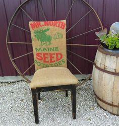 Burlap Sack Chair