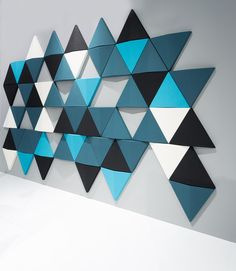 Acoustic Wall coverings | Bits Wall | Abstracta | Anya Sebton. Check it out on Architonic