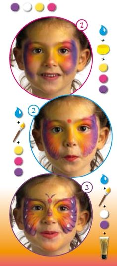 COLORFULL BUTTERFLY face painting for children