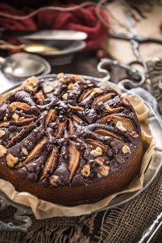 whole vegan #glutenfree  pear #chocolate cake refined sugar free - torta pere e #cioccolato #vegan #senzaglutine senza burro senza uova leggera facile integrale senza zucchero raffinato
