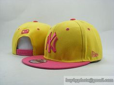 MLB Baseball NEW YORK Yankees NY Snapback Hat Cap Yellow/Pink|only US$6.00 - follow me to pick up couopons.