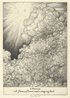 In Memoriam, Louise ~ Ernest Haskell etching for his first wife Elizabeth who passed away in 1918