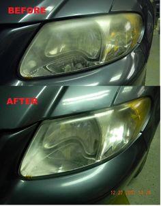 DIY foggy headlight #restoration with toothpaste