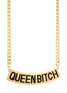 #queen #bitch #necklace