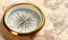 Using a compass to chart your course.