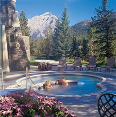 Fairmont Banff Springs Hotel outdoor whirlpool -- a great end to an idyllic day. #GILoveAlberta