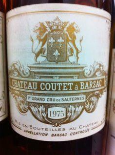 1975  #Coutet #Barsac #Sauternes #Wine #Vin